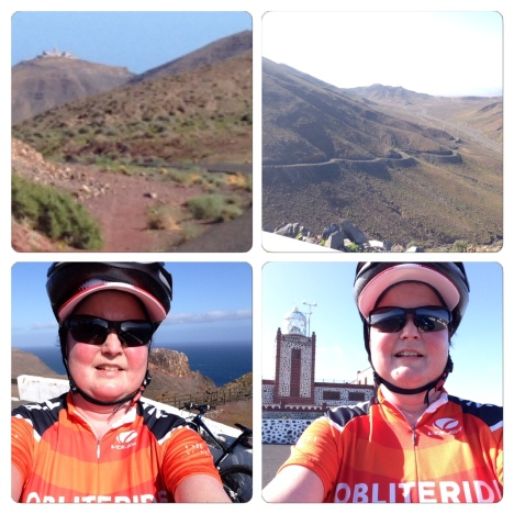 Feeling very accomplished after a bicycle trip up to the Lighthouse on Fuerteventura :-)